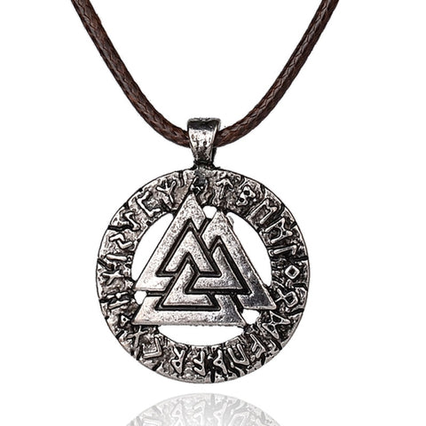pagan amulet pendant Men necklace Scandinavian Viking jewelry Odin 's Symbol of Norse Viking Warrior Slavic Norway Valknut - babiesrhere