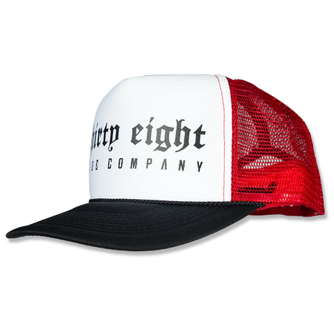 Gate Drop Trucker Snapback White/Red/Black