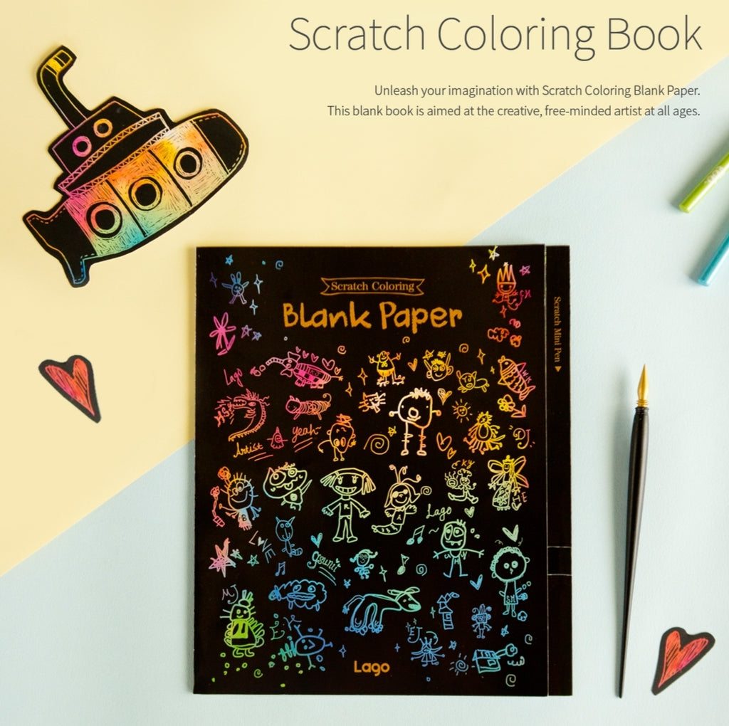 Scratch Coloring Book - Blank Pages