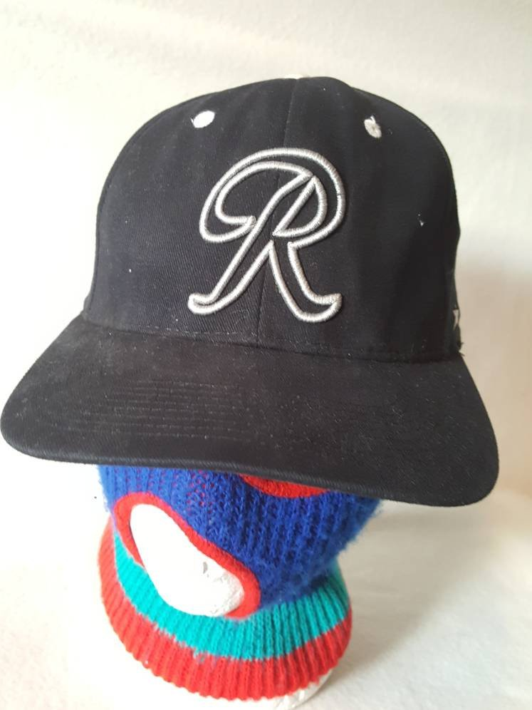 Vtg Richmond Braves Minor League Black snapback hat cap Atlanta Virginia MLB baseball k95