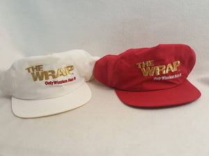 Vintage Winston Cigarettes The Wrap 2 hat Lot bundle Tobacco
