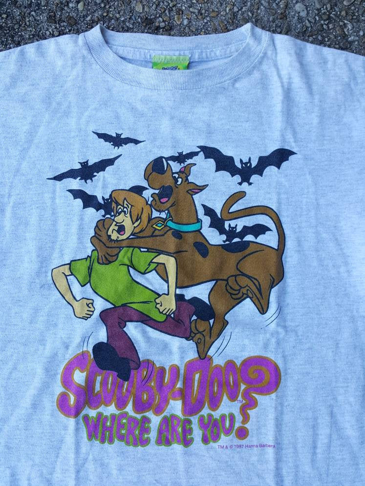 Vtg Scooby Doo Where are you   tee  Shirt  sz youth XL Adult Small
