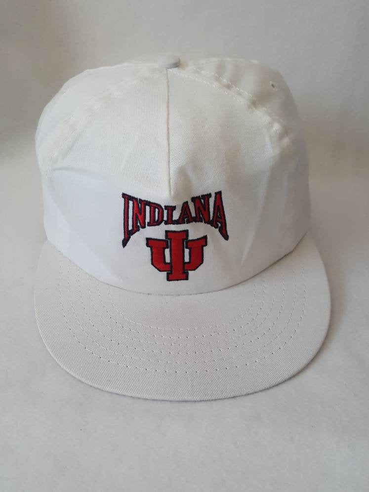 Vtg  Indiana University Hoosiers snapback hat  cap  made in USA University Square