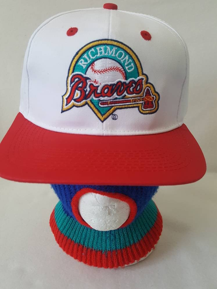 Vtg Richmond Braves  snapback hat baseball cap MLB  Deion Sanders David Justice   Atlanta Dope