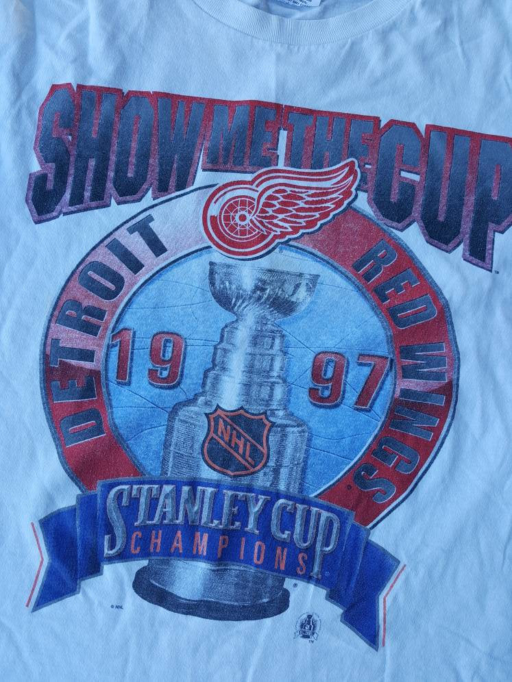 Vintage Starter Detroit Red Wings Youth Boys L/XL 1997 Stanley Cup champions