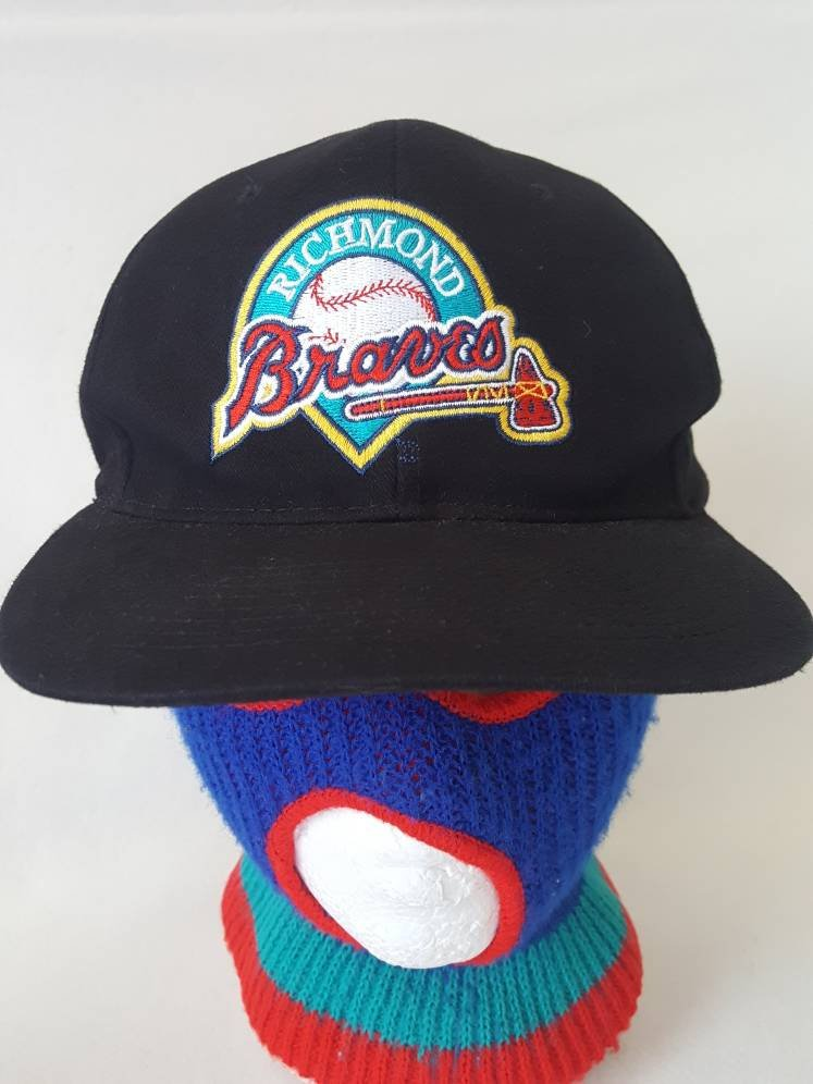 Vtg Richmond Braves  snapback hat baseball cap MLB  Deion Sanders David Justice   Atlanta