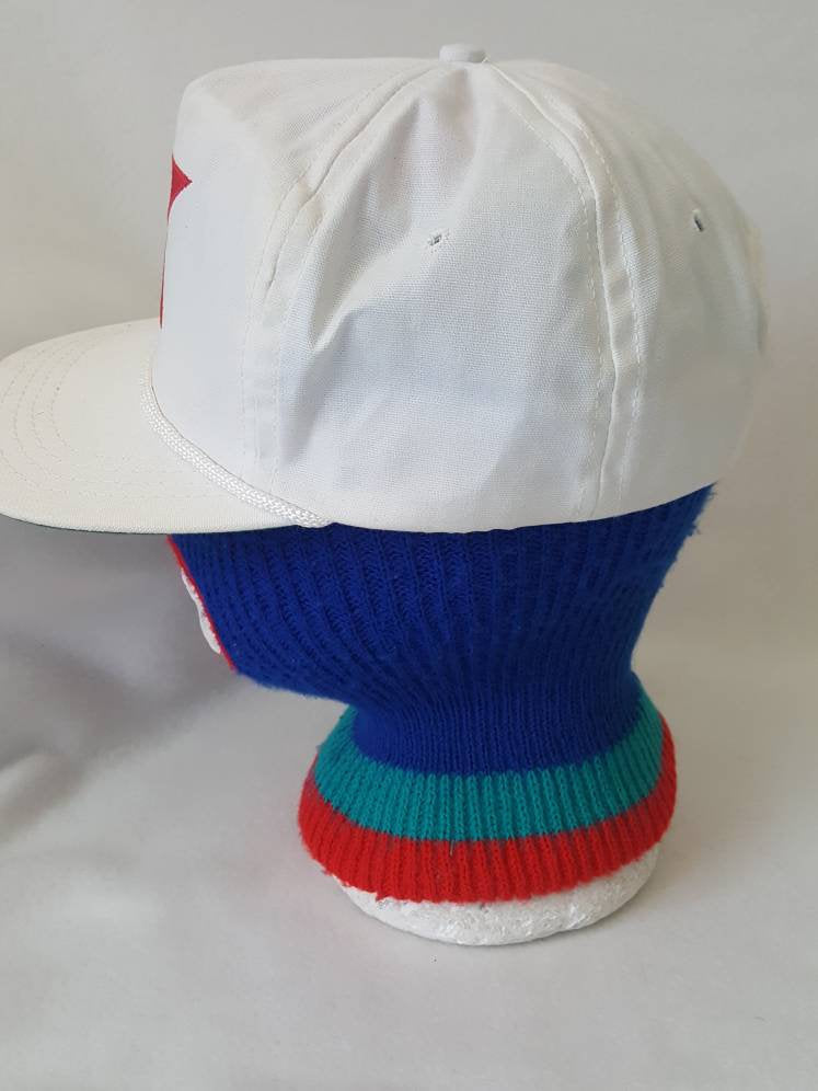 Vtg  K Mart Department Store leather strapback  hat made in USA Duckster