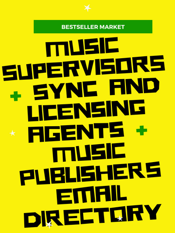 2019 music publishers film synchronization licensing agents email list | INSTANT DOWNLOAD