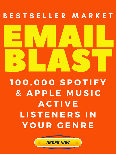 EMAIL YOUR SONG 100,000 SPOTIFY  AND APPLE MUSIC ACTIVE LISTENERS | BESTSELLER MARKET