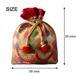 Multi Colour Brocade Potli Bag