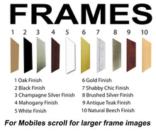 Uncle Photo Frame - Uncle Photo Frame 71A 450mm x 151mm mount size  , Choices of frames & Borders