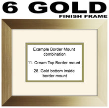 Personalise 1 to 99 with Message Number Photo Frame Gift 450mm x 151mm mount size , Choices of frames & Borders