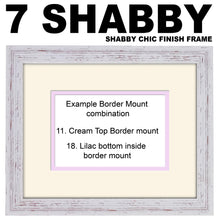 "Personalised Two Hearts Photo Frame 6""x4"" photos 450mm x 151mm mount size  , Choices of frames & Borders"