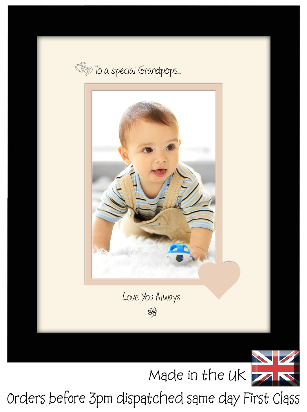 Grandpops Photo Frame - To a Special Grandpops ... Love you Always Portrait photo frame 6