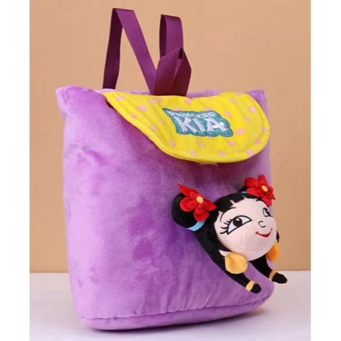 Chhota Bheem Kung Fu Dhamaka Princess Kia 3D Face Plush Bag Purple