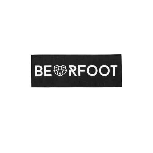 Bearfoot Patch Black Rectangle Small