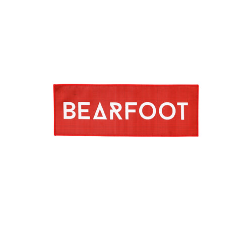 Bearfoot Patch Red Rectangle Small