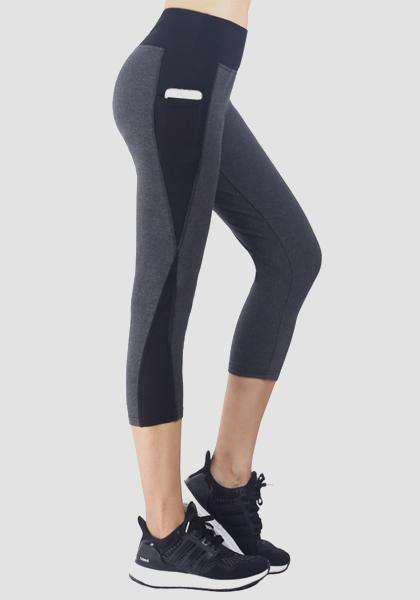 Kreatives Mesh Pocket Yoga Capris Leggings