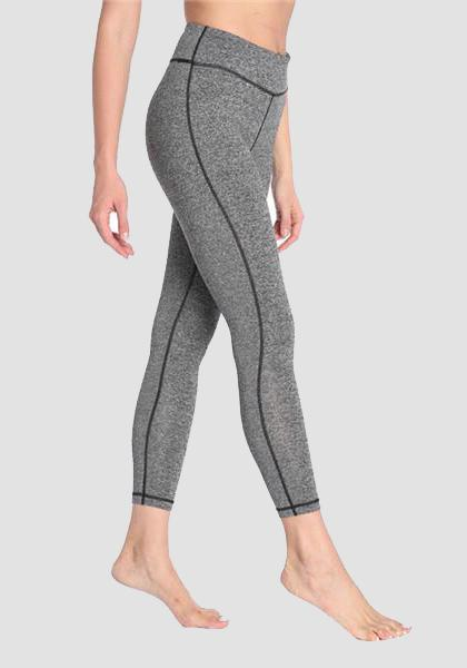 Skinny Fitness Leggings mit Tasche am Bund - lange Leggings-2UBest.com-Light Grey-XXL-2UBest.com