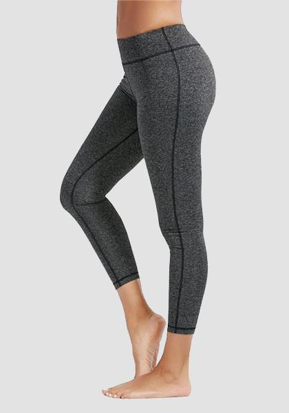 Skinny Fitness Leggings mit Tasche am Bund-Lange Leggings-2UBest.com-Deep Gray-XXL-2UBest.com