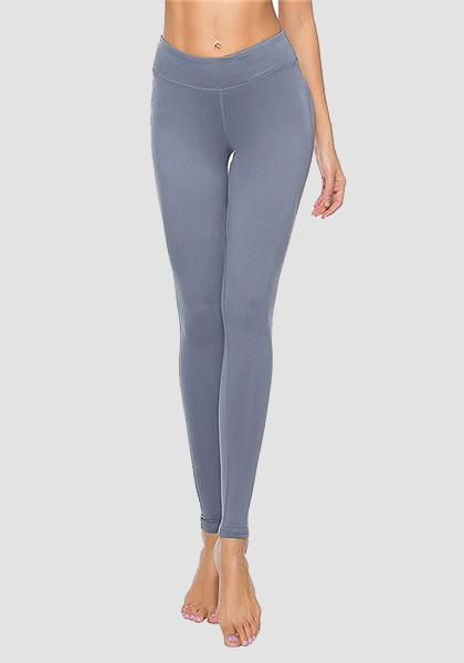 Skinny Fitness Leggings mit Tasche am Bund-Long Leggings-2UBest.com-Gray-XXL-2UBest.com