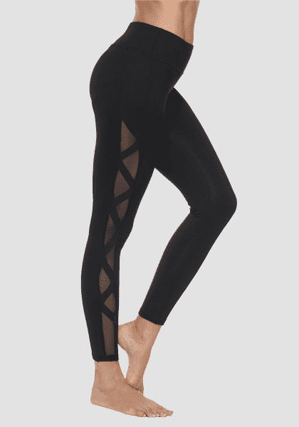 Schnell trocknende Fitness Tight Compression Yoga Hosen-Lange Leggings-2UBest.com-Black / White-S-2UBest.com