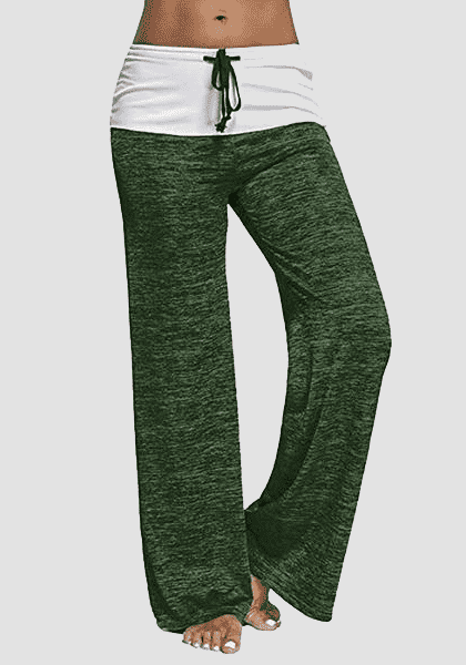 Relaxed High-Waist Baggy Kordelzug Yoga Hosen-lange Leggings-2ubest.com-Deep Green-S-2UBest.com