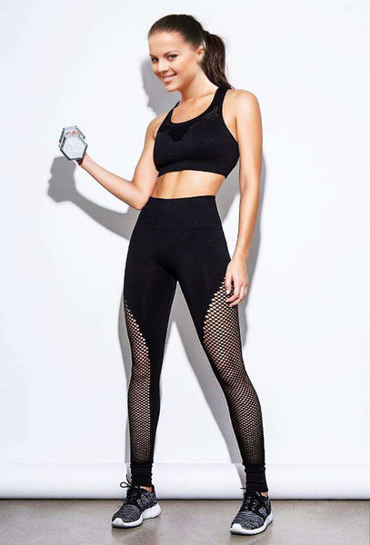 Hight Waist Stitching Mesh Yoga Pants-Mesh Leggings-2ubest.com-2UBest.com