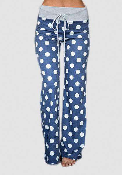 Relaxed Loose Baggy Floral Printed Pants-Long Leggings-2UBest.com-Blue / White-S-2UBest.com