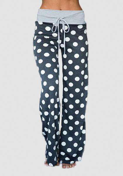 Relaxed Loose Baggy Floral Printed Pants-Long Leggings-2UBest.com-Black / White-S-2UBest.com