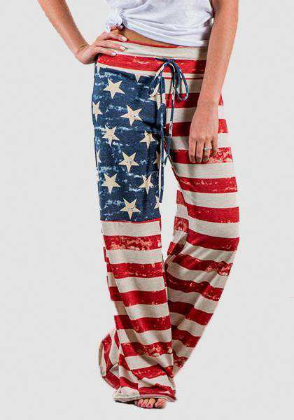 Relaxed Loose Baggy Floral Printed Pants-Long Leggings-2UBest.com-Red / Blue-S-2UBest.com