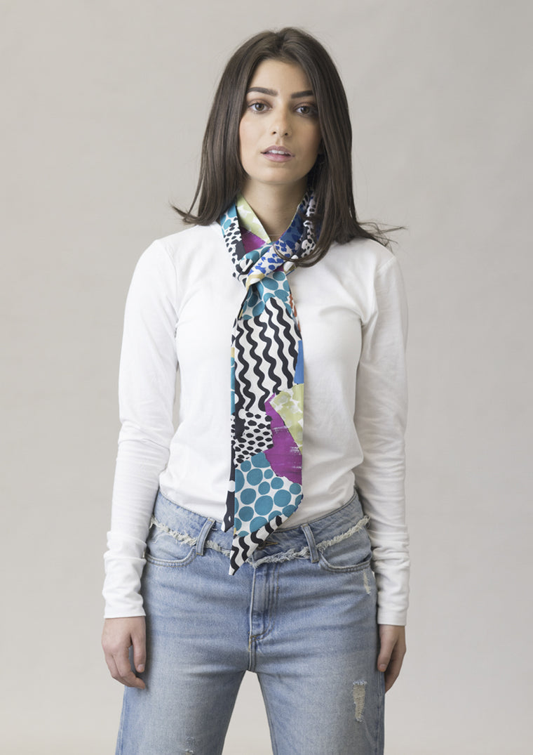 First Dates Skinny Silk Scarf