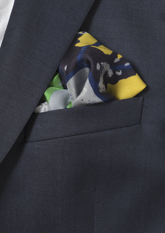 Pavement Printed Men's Silk Twill Pocket Square