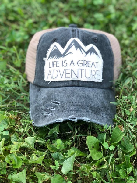 Life is a Great Adventure-Trucker Hat-Hat-Adventure-Travel-Moutains-Great outdoors-Accessories