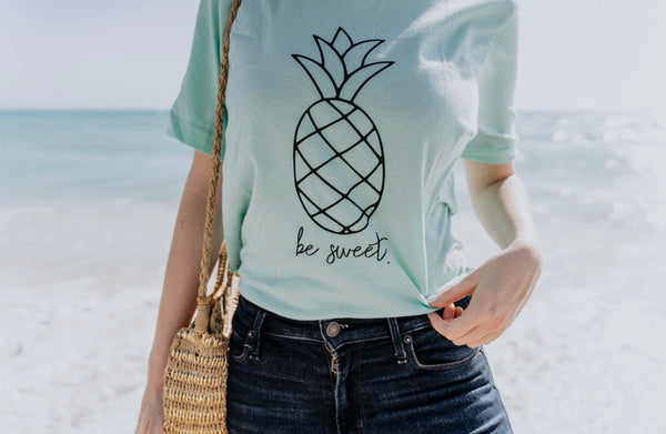 Be Sweet - Pineapple - Tshirt - Mint - Summer Tee