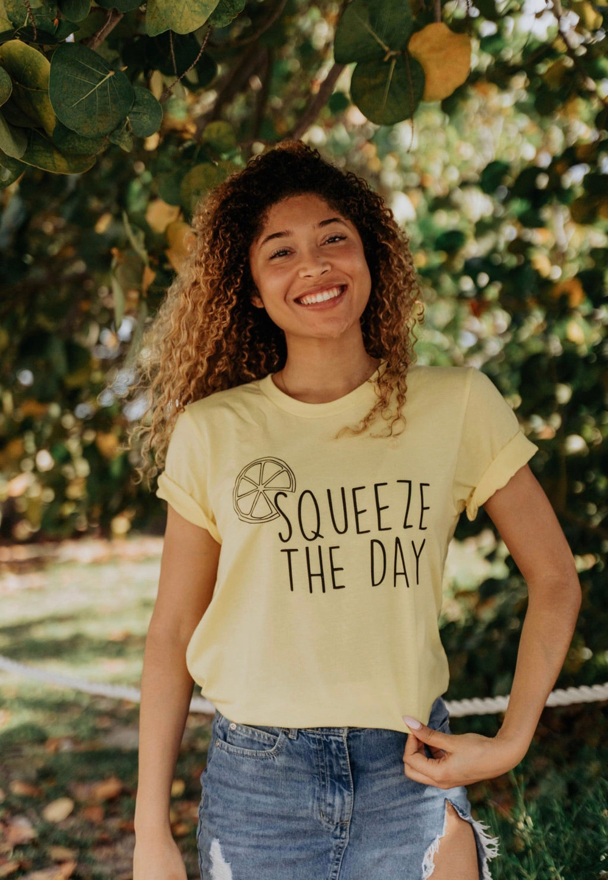 Squeeze The Day - Tshirt - Yellow - Mini Collection