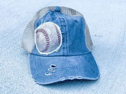 Baseball - Trucker Hat - Vintage - Gray