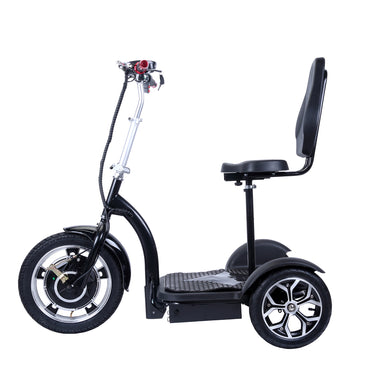 City Hopper 3-Wheel Electric Mobility Scooter with 16-inch Front Wheel, 500W Brushless Motor and 48V–12AH Battery