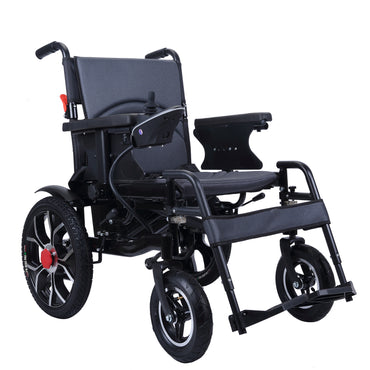 City Hopper Electric Wheelchair with 16-inch Rear Wheels, 500W Motor, 24V–12AH Battery, Easily Foldable, Joystick Controlled, Powered Mobility Aid with Easy to use Controls