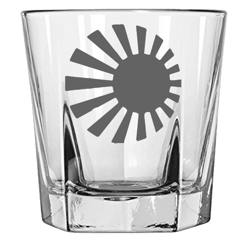 Axis & Allies Japanese Roundel Rock Glass