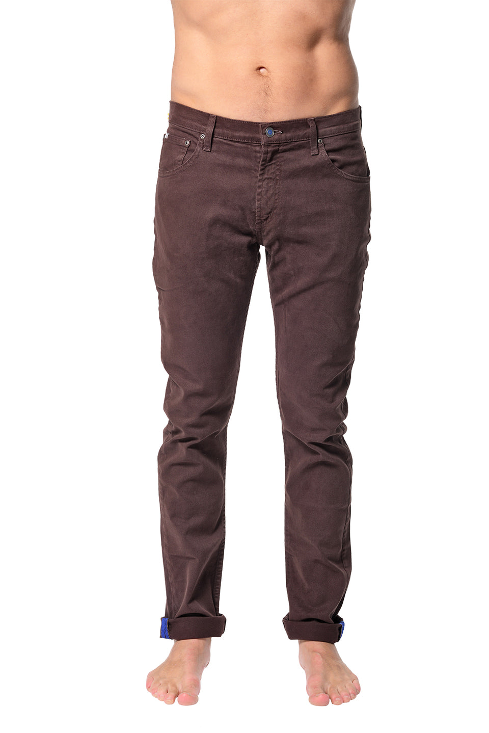 5 Pocket Slim Buck - Brown