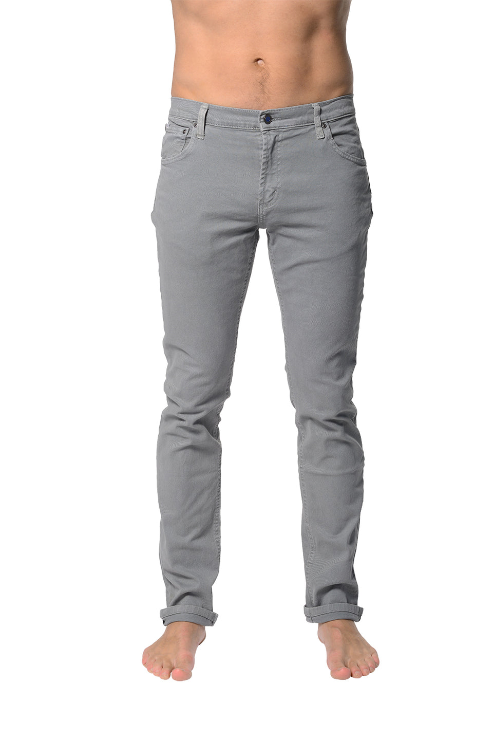 5 Pocket Slim Buck - Light Grey