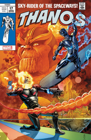 Thanos 17 Marvel Legacy 2018 J.G. Jones Silver Surfer 4 Homage Variant Cosmic Ghost Rider