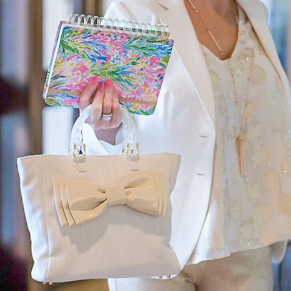 The Original Ladies Who Lunch Tote with Interchangeable Bows, Flowers, & More