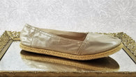Aldo gold shimmer loafers