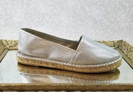 Elorie silver leather loafers