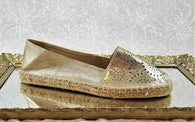 Denver Hayes gold leather loafers