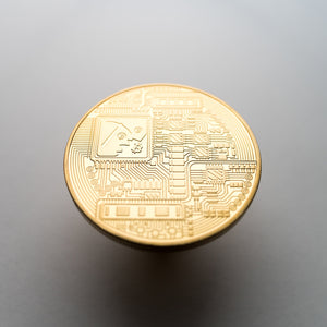 Gold/Silver Plated Bitcoin Coin Collectible - Coinstop