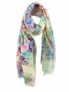 The Dancer Long Silk Scarf - Tribal
