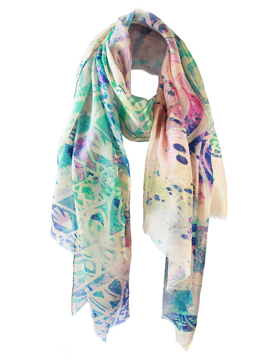 The Dancer Superlight Silk Summer Scarf - Tribal